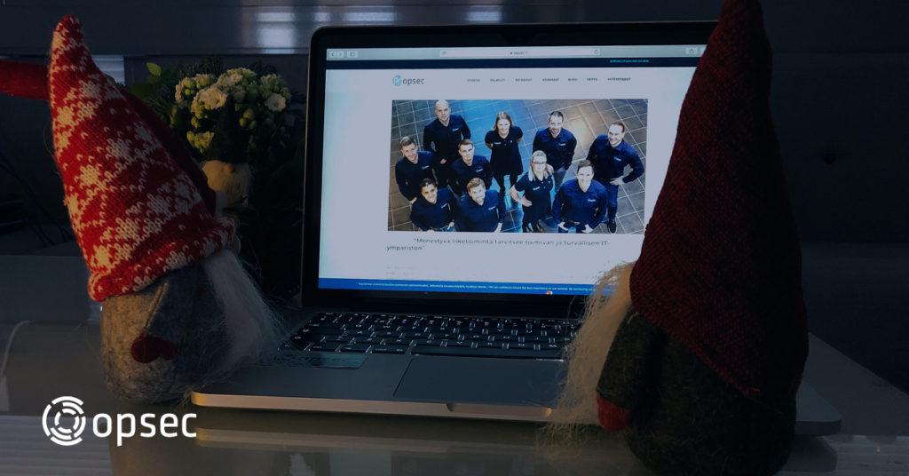 Opsec Oy:n IT-joukkue toivottaa hyvää joulua!