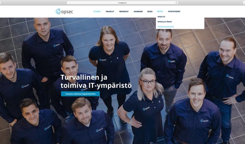 Opsec Oy:n päivitetty tietosuojaseloste