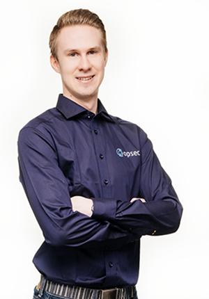 Aleksi Kinnunen, tekninen asiakaspalvelu, Opsec Oy