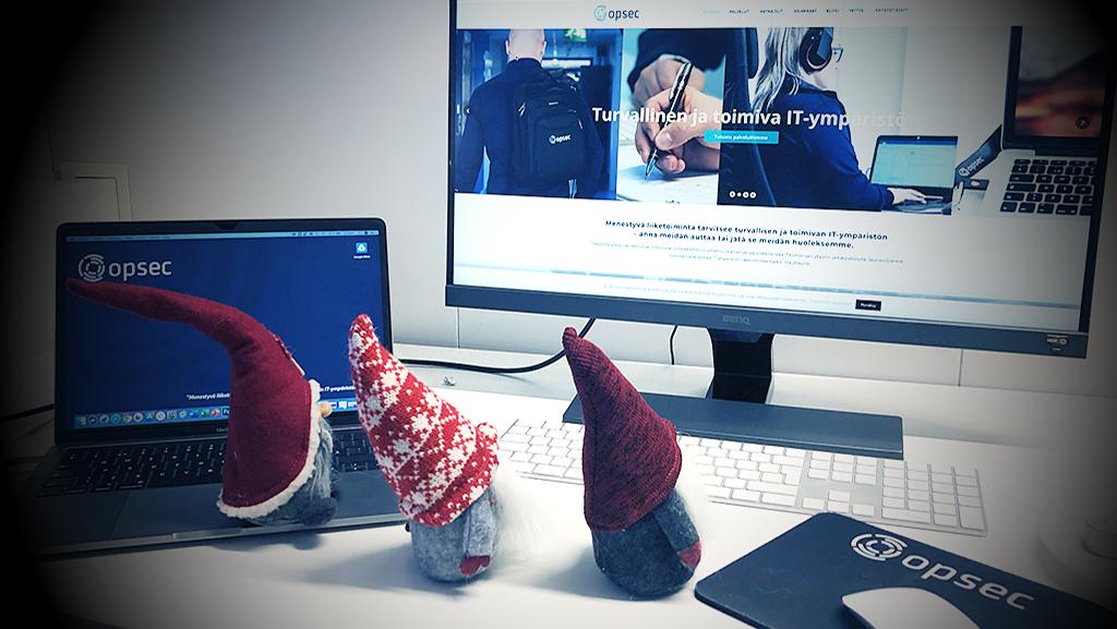Rauhallista joulua! Toivottaa Opsec Oy:n IT-joukkue