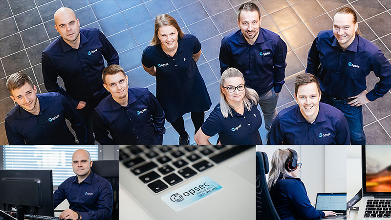 Opsec Oy:n IT-joukkue liiketoimintasi tukena